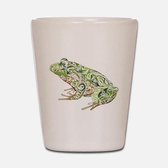 Filligree Frog Shot Glass