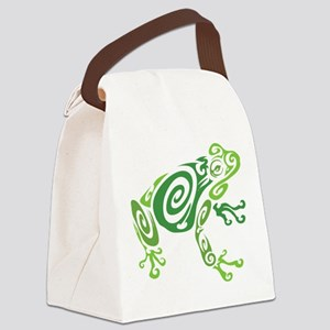 Frog Tattoo Canvas Lunch Bag