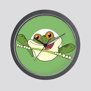 Frog Stamp-2 Wall Clock
