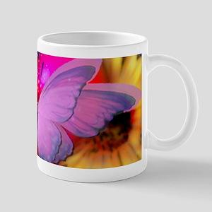 Big Pink Butterfly & Sunflowers Mugs