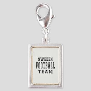 Sweden Football Team Silver Portrait Charm