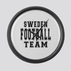 Sweden Football Team Large Wall Clock