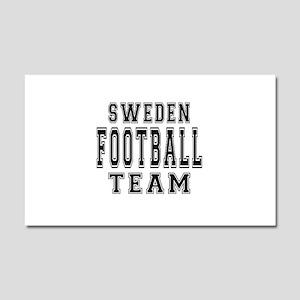 Sweden Football Team Car Magnet 20 x 12