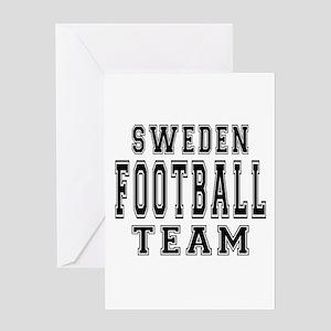 Sweden Football Team Greeting Card