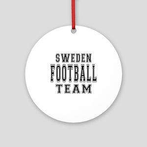Sweden Football Team Ornament (Round)