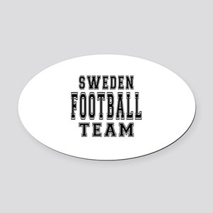 Sweden Football Team Oval Car Magnet