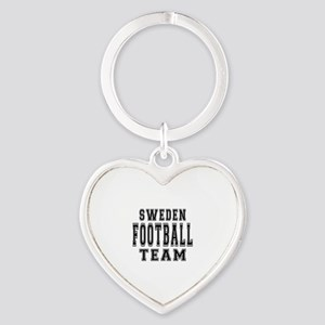 Sweden Football Team Heart Keychain