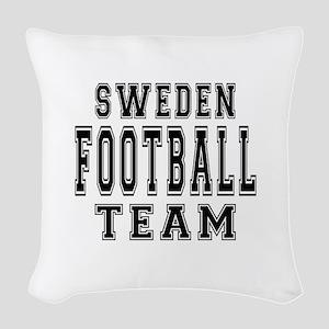 Sweden Football Team Woven Throw Pillow