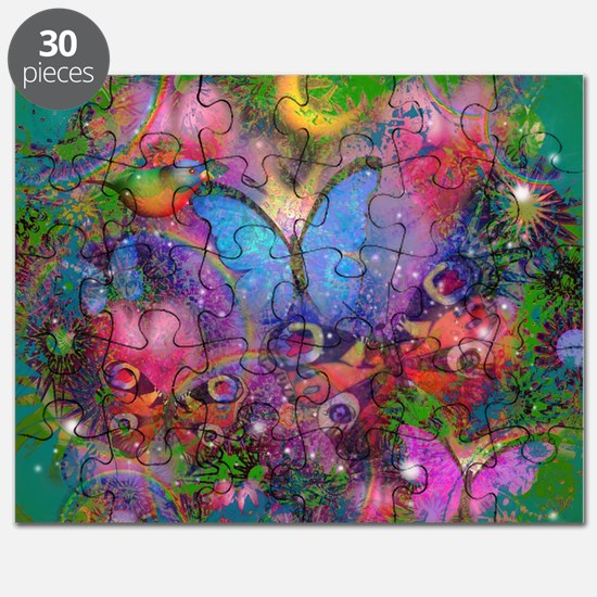 Cool Butterfly blue Puzzle