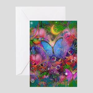 Peacock Butterflies & Blue Morpho Greeting Cards