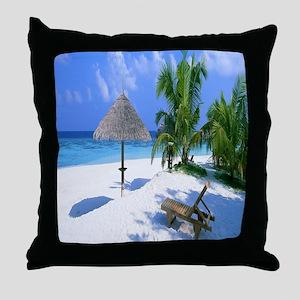 Beach Rest Throw Pillow
