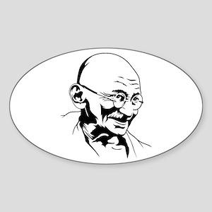 Strk3 Gandhi Oval Sticker