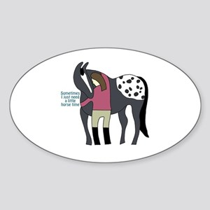 I Need Horse Time - appaloosa Sticker (Oval)