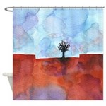 In Limbo Cinnabar Shower Curtain