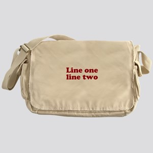 Two Line Custom Message in Dark Red Messenger Bag