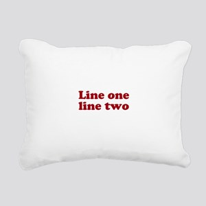 Two Line Custom Message in Dark Red Rectangular Ca