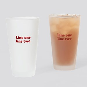 Two Line Custom Message in Dark Red Drinking Glass
