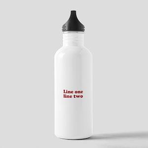 Two Line Custom Message in Dark Red Water Bottle