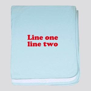 Two Line Custom Message in Dark Red baby blanket