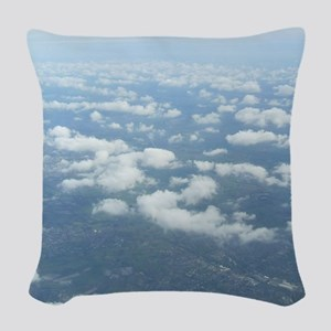 Skyblue Woven Throw Pillow