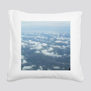 Skyblue Square Canvas Pillow