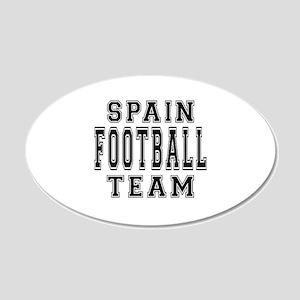 Spain Football Team 20x12 Oval Wall Decal
