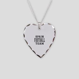 Spain Football Team Necklace Heart Charm