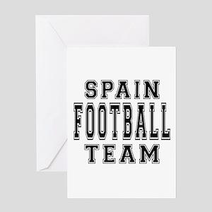 Spain Football Team Greeting Card