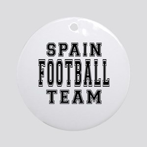 Spain Football Team Ornament (Round)