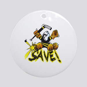 SAVE! (dark color t-shirts) Round Ornament