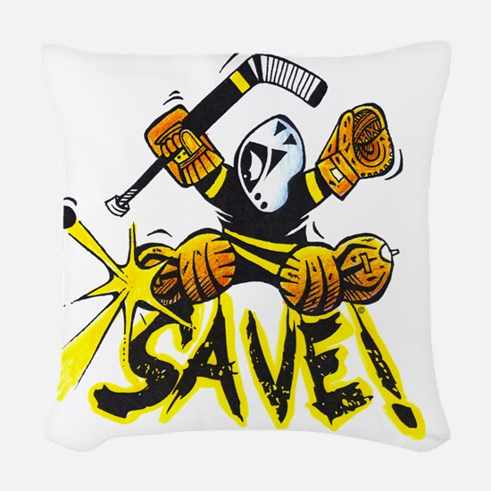 SAVE! (dark color t-shirts) Woven Throw Pillow