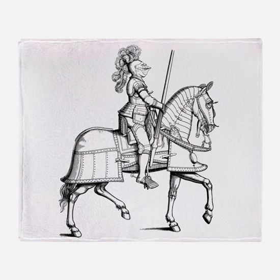Knight in Armor Throw Blanket