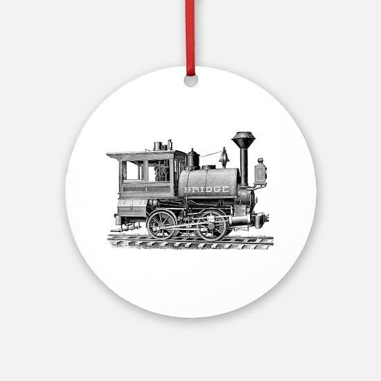 Vintage Steam Locomotive Ornament (Round)