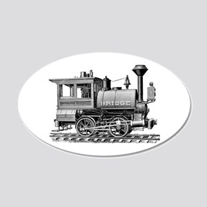 Vintage Steam Locomotive 20x12 Oval Wall Decal