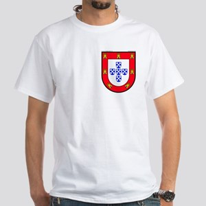 Portugal: Heraldic White T-Shirt (S shield)