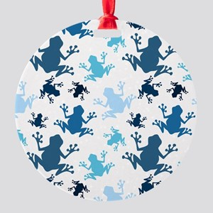 Frog Pattern; Navy, White, Sky, Baby Blue Frogs Or