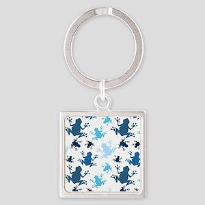 Frog Pattern; Navy, White, Sky, Baby Blue Frogs Ke