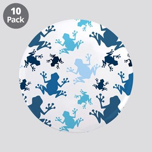 Frog Pattern; Navy, White, Sky, Baby Blue Frogs 3.