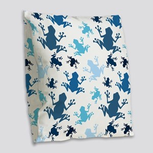 Frog Pattern; Navy, White, Sky, Baby Blue Frogs Bu