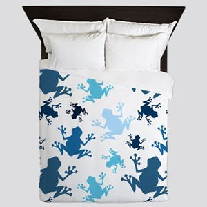 Frog Pattern; Navy, White, Sky, Baby Blue Frogs Qu