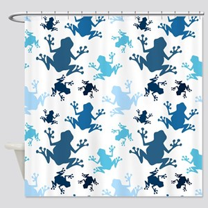 Frog Pattern; Navy, White, Sky, Baby Blue Frogs Sh