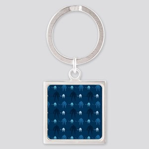 Dark and Light Blue Ice Hockey Keychains