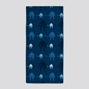Dark and Light Blue Ice Hockey Beach Towel