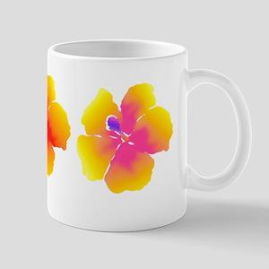 Variations on a Hibiscus Yellow & Orang Mug