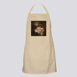 Hail Mary Prayer Antique Roses Apron