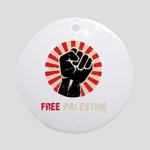 Free Palestine Round Ornament