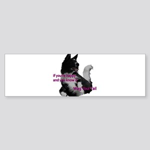 Border collie Wag your tail Madel Sticker (Bumper)