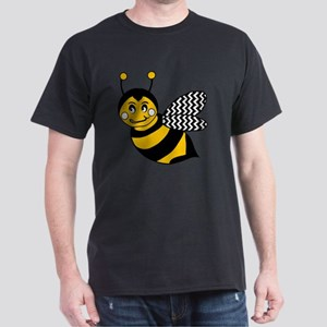Cute Chevron Winged Bumble Bee Dark T-Shirt