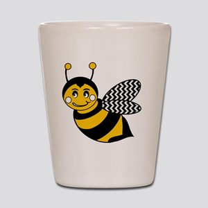 Cute Chevron Winged Bumble Bee Shot Glass