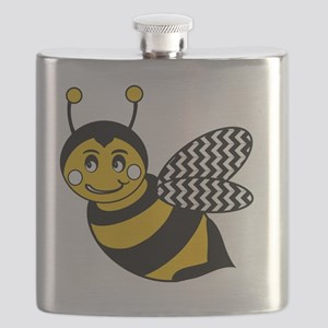 Cute Chevron Winged Bumble Bee Flask
